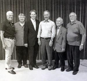 Von Links: Ernst Casty, Rolf Zimmermann, Emanuel Nay, Felix Urech, Gerd Meier, Klaus Notter